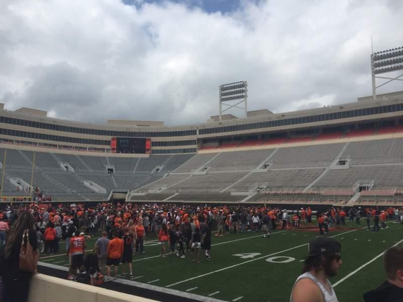 Boone Pickens Stadium, section: 104, row: 4, seat: 15