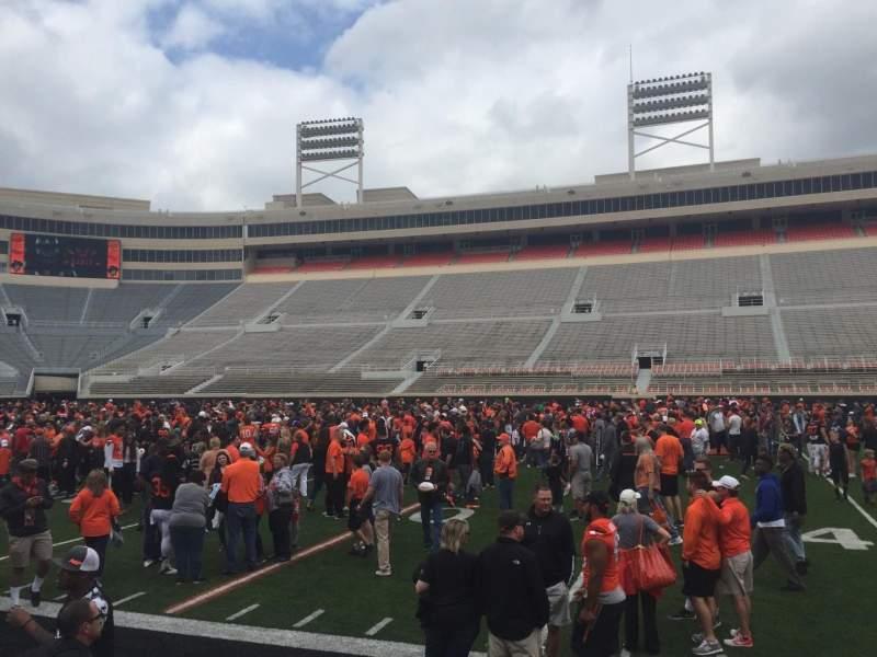 Boone Pickens Stadium, section: 105, row: 1, seat: 7