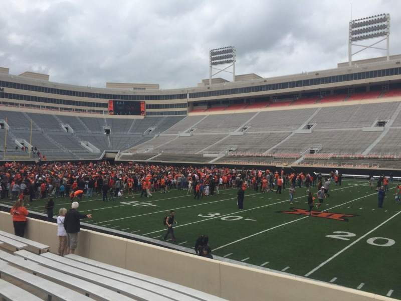 Seating view for Boone Pickens Stadium Section 103 Row 10 Seat 30
