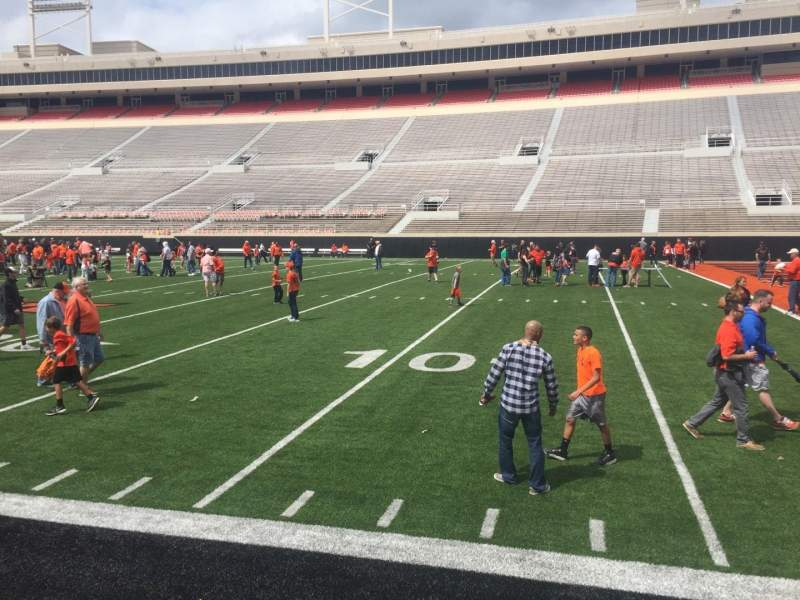 Seating view for Boone Pickens Stadium Section 102 Row 1 Seat 13