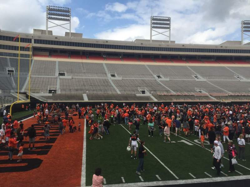 Seating view for Boone Pickens Stadium Section 107 Row 9 Seat 49