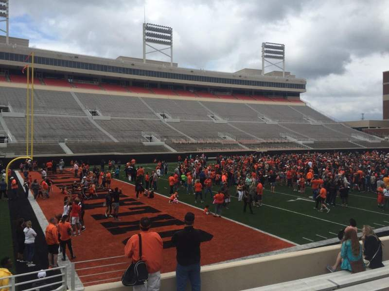 Boone Pickens Stadium, section: 108, row: 11, seat: 22