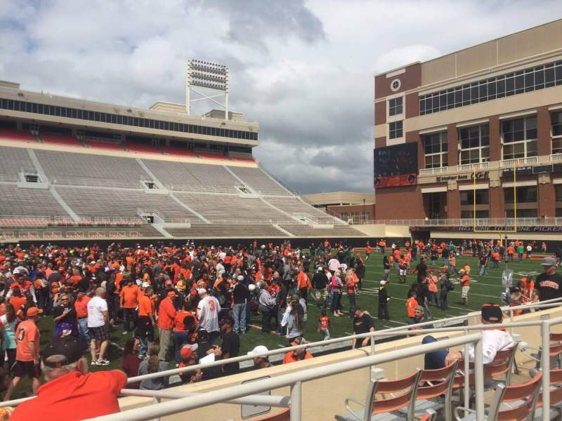 Boone Pickens Stadium, section: 106, row: 5, seat: 19