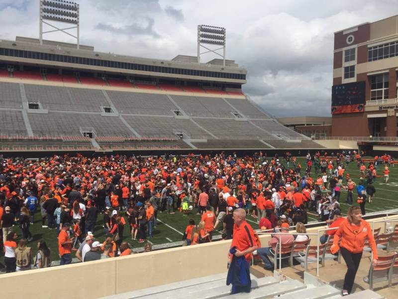 Boone Pickens Stadium, section: 107, row: 11, seat: 10