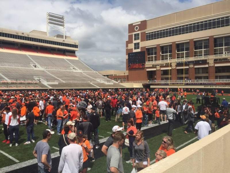 Seating view for Boone Pickens Stadium Section 107 Row 2  Seat 23