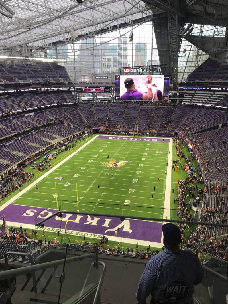 Seating view for U.S. Bank Stadium Section 325 Row 5 Seat 2