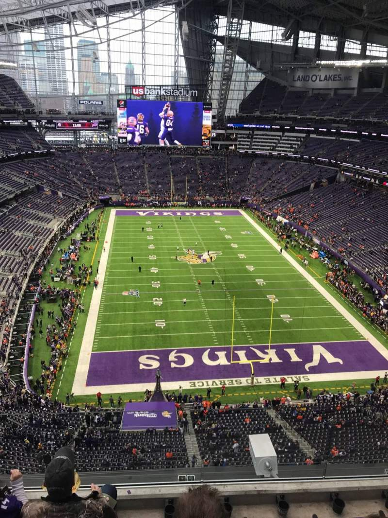 Seating view for U.S. Bank Stadium Section 328 Row 4 Seat 7