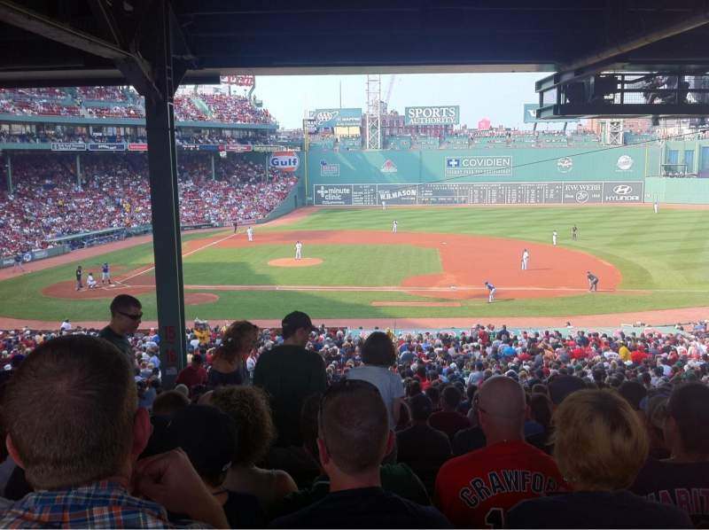 Seating view for Fenway Park Section Grandstand 15
