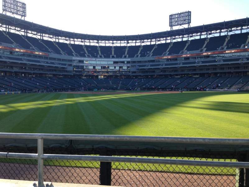 Seating view for Guaranteed Rate Field Section 101 Row 2 Seat 12