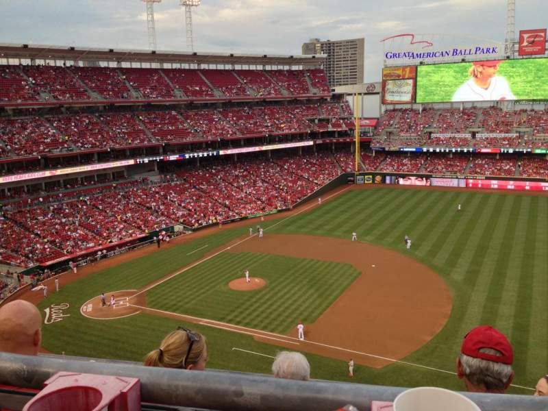 Seating view for Great American Ball Park Section 532 Row A Seat 10
