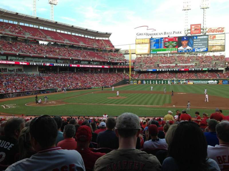 Seating view for Great American Ball Park Section 130 Row FF Seat 11