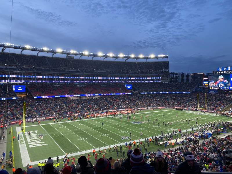 Seating view for Gillette Stadium Section 214 Row 14 Seat 5