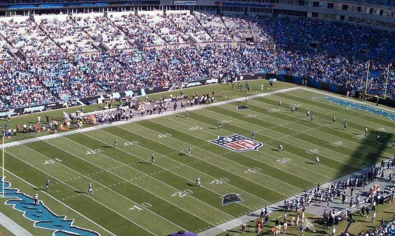 Seating view for Bank of America Stadium Section 551