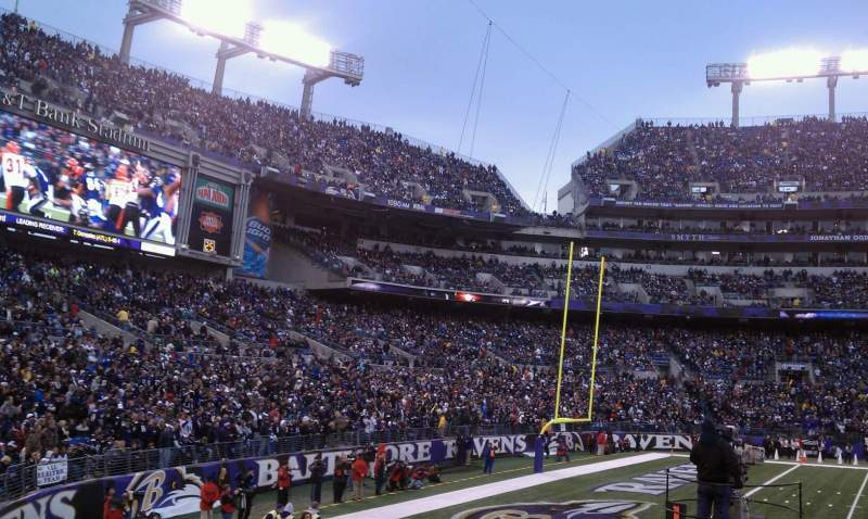 Seating view for M&T Bank Stadium Section 130 Row 8 Seat 8