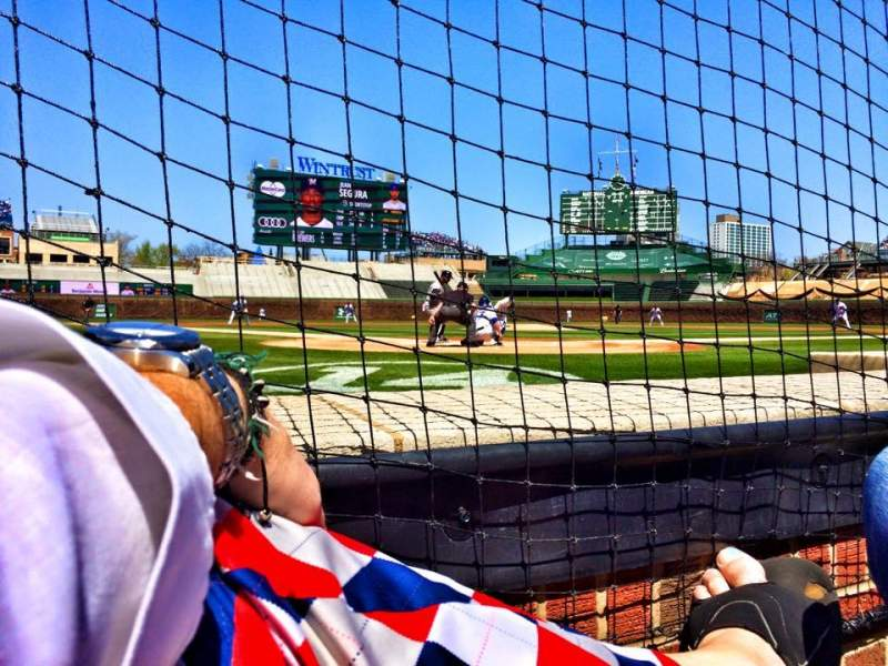 Seating view for Wrigley Field Section Dugout Box 22 Row A Seat 3