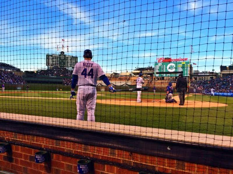 Seating view for Wrigley Field Section 16 Row B Seat 8