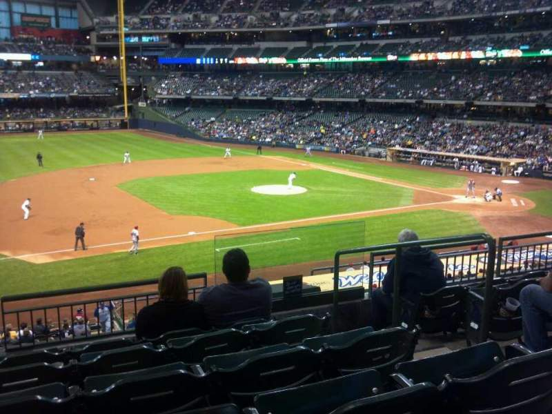 Seating view for Miller Park Section 226 Row 6 Seat 6