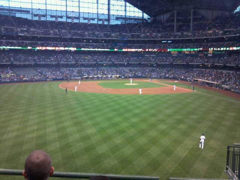 Seating view for Miller Park Section 238 Row 3 Seat 5