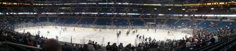Seating view for Amalie Arena Section 122 Row K Seat 25