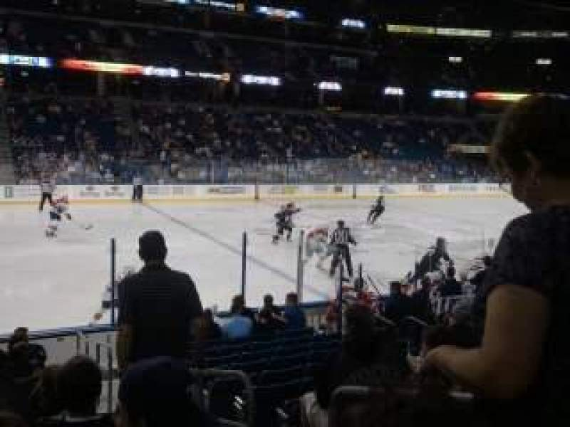 Seating view for Amalie Arena Section 103 Row K