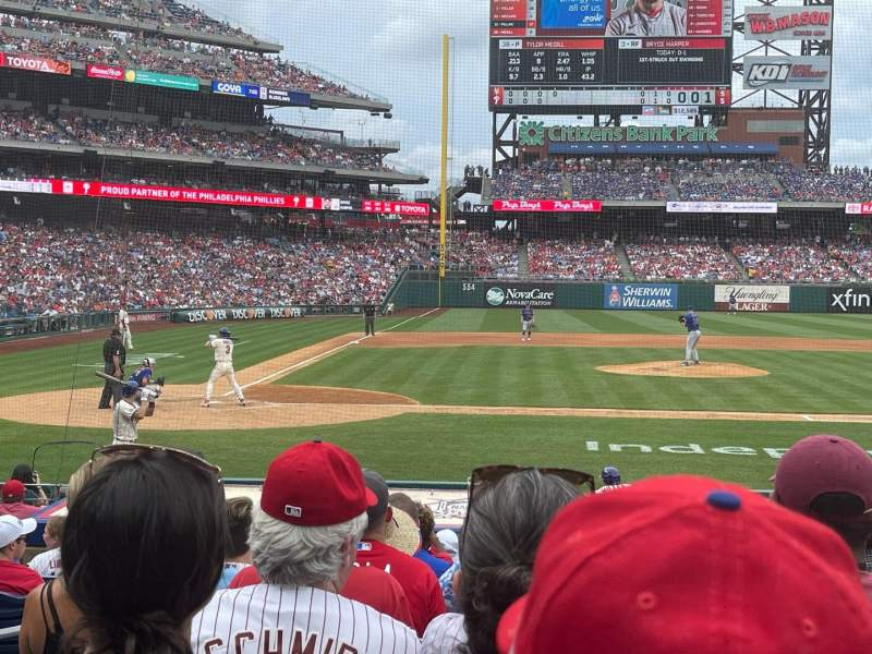 Seating view for Citizens Bank Park Section 118 Row 11 Seat 4