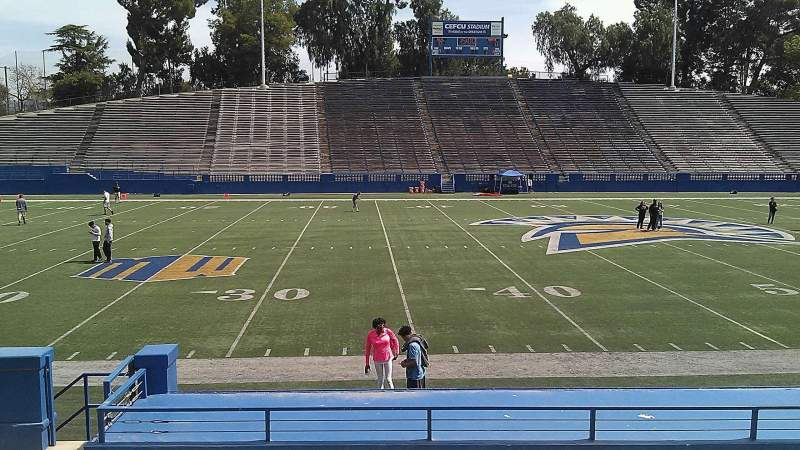 Seating view for CEFCU STADIUM Section 112 Row 12 Seat 19