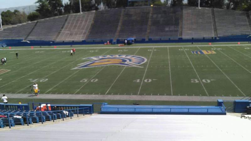Seating view for CEFCU STADIUM Section 110 Row 31 Seat 15
