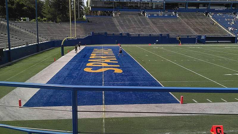 Seating view for CEFCU STADIUM Section 134 Row 9 Seat 14