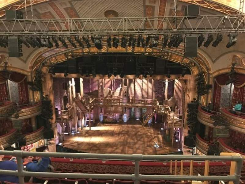 Seating view for Richard Rodgers Theatre Section Rear Mezzanine C Row G Seat 101,102