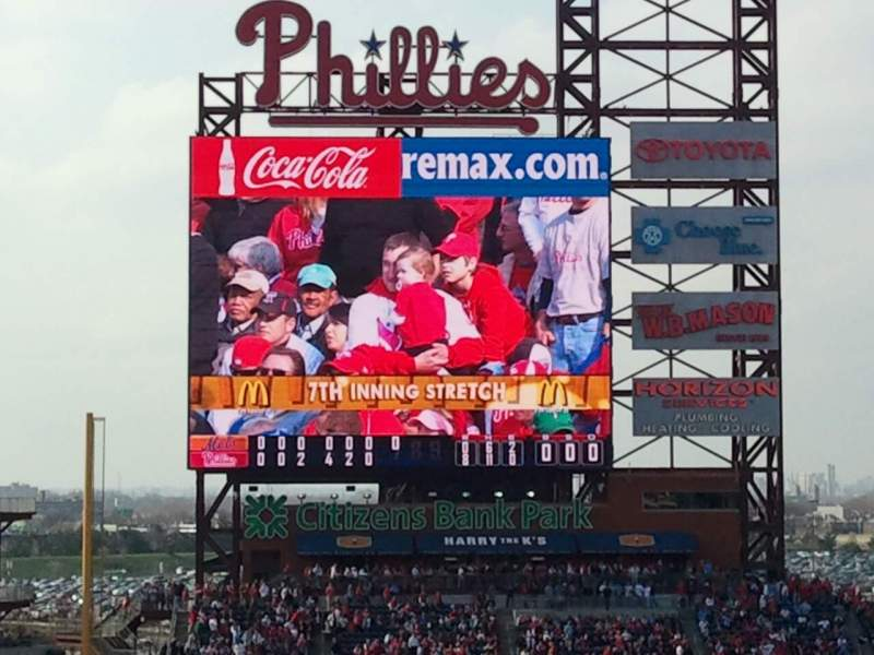 Seating view for Citizens Bank Park Section 316 Row 1 Seat 12