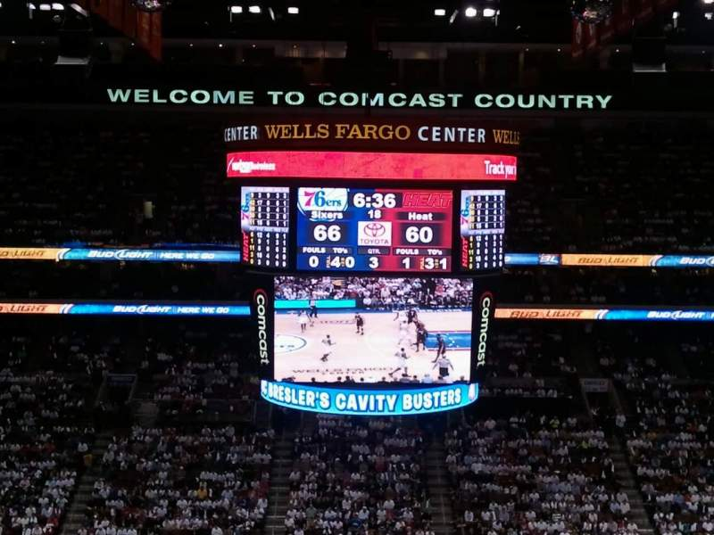 Seating view for Wells Fargo Center Section 201 Row 7 Seat 4