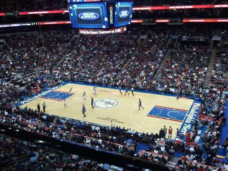 Seating view for Wells Fargo Center Section 203 Row 1 Seat 8