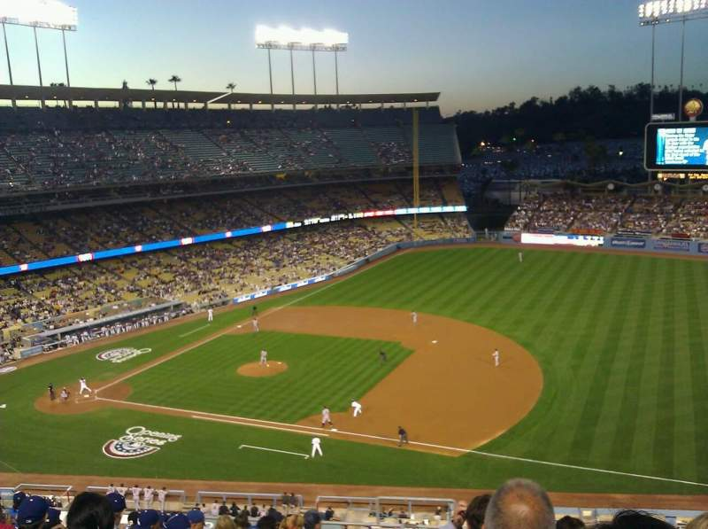 Seating view for Dodger Stadium Section 28RS Row L Seat 1