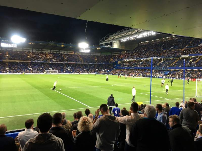Seating view for Stamford Bridge Section Shed End Lower 6 Row 13 Seat 164