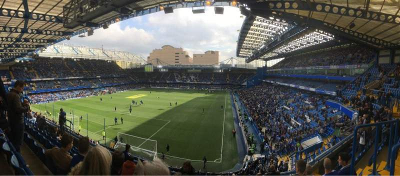 Seating view for Stamford Bridge Section Matthew Harding Upper 9 Row G Seat 317