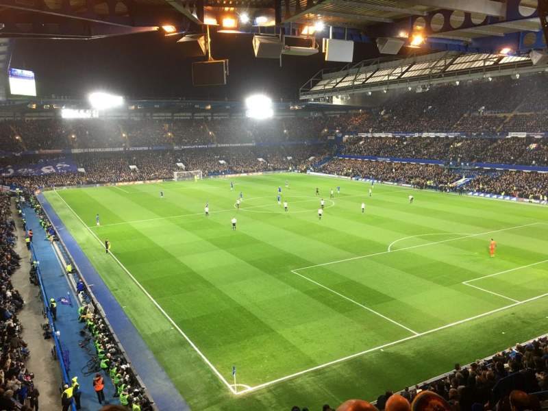 Seating view for Stamford Bridge Section Shed End Upper 6 Row 16 Seat 231