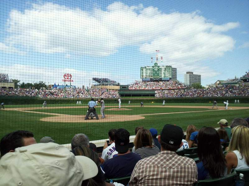Seating view for Wrigley Field Section 24 Row 2 Seat 103