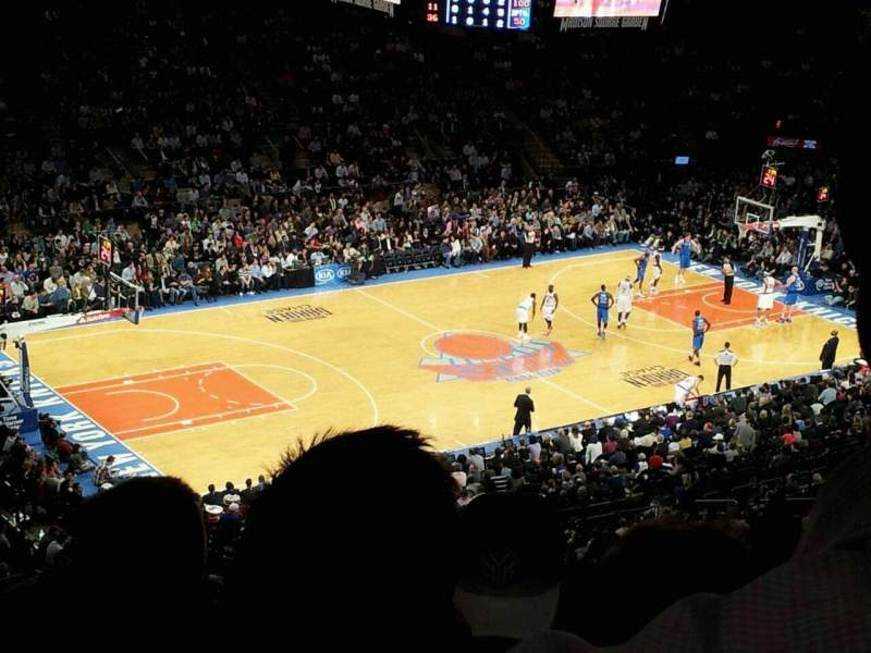 Seating view for Madison Square Garden Section 208 Row 12 Seat 18