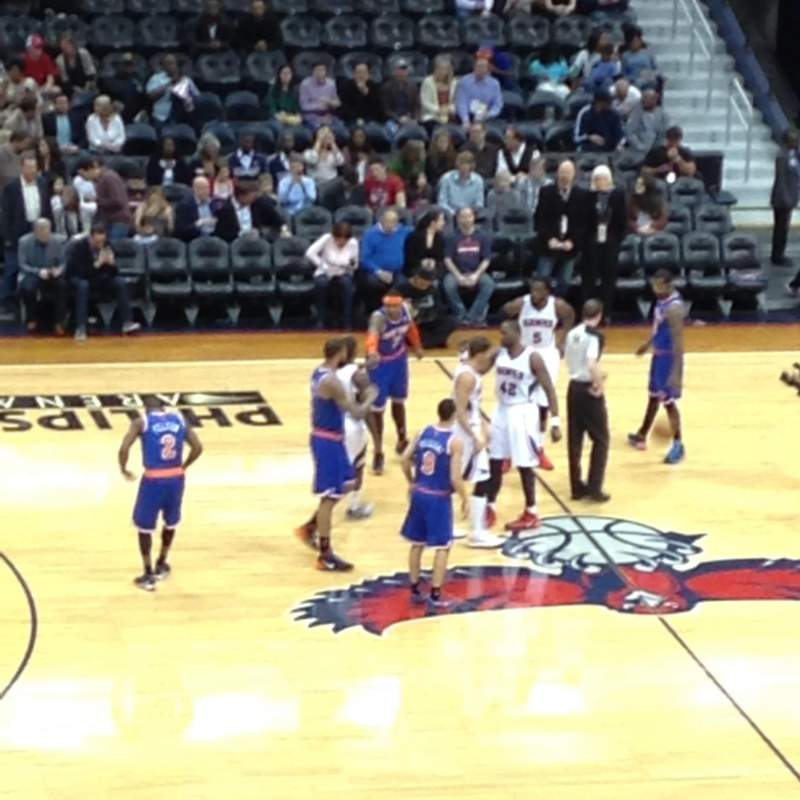Seating view for Philips Arena Section 212 Row J Seat 24