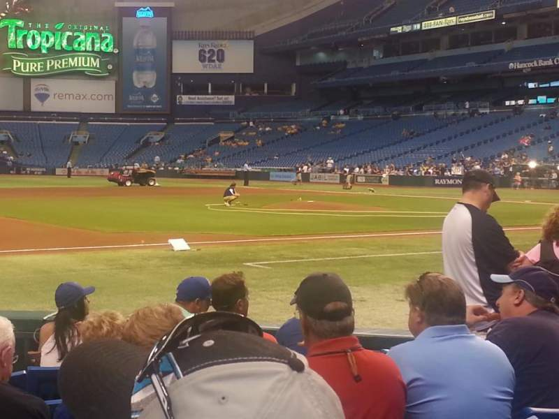 Seating view for Tropicana Field Section 119 Row J Seat 2