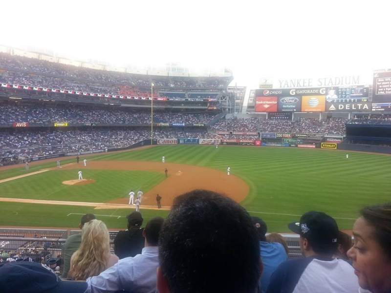 Seating view for Yankee Stadium Section 215 Row 5 Seat 6 and 7