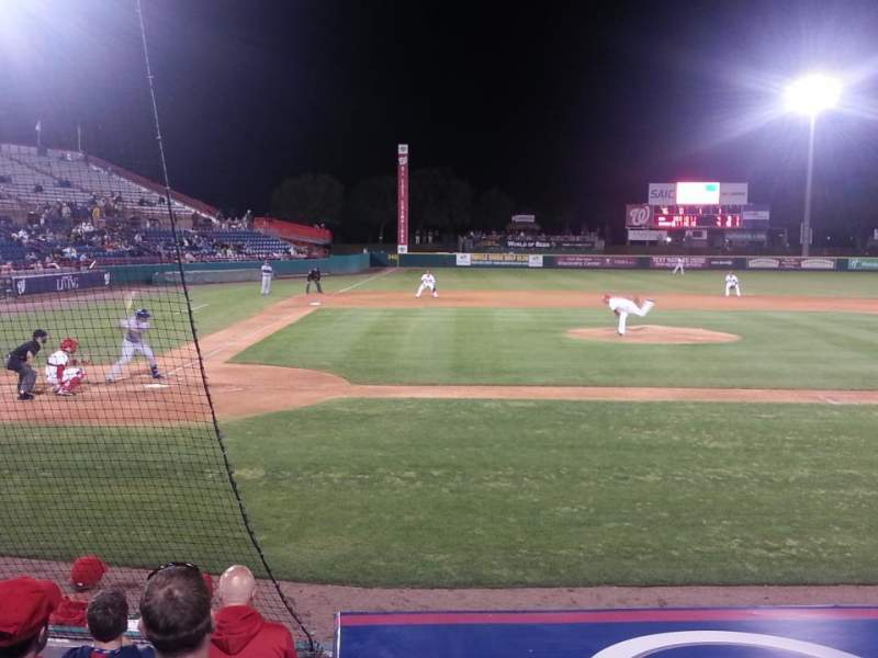 Seating view for Space Coast Stadium Section 113 Row 2 Seat 3