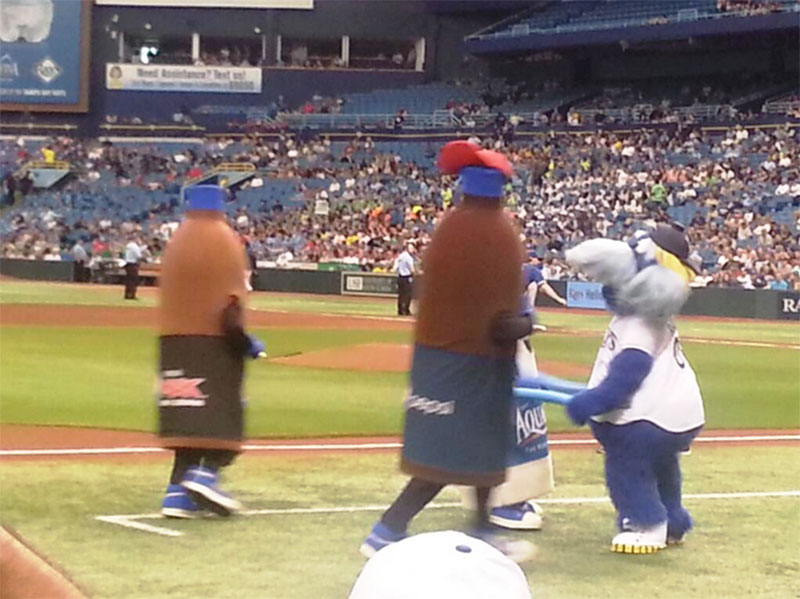Seating view for Tropicana Field Section 119 Row G Seat 7 and 8