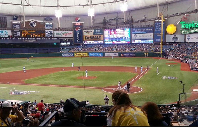 Seating view for Tropicana Field Section 107 Home Club Row 106 Seat RR