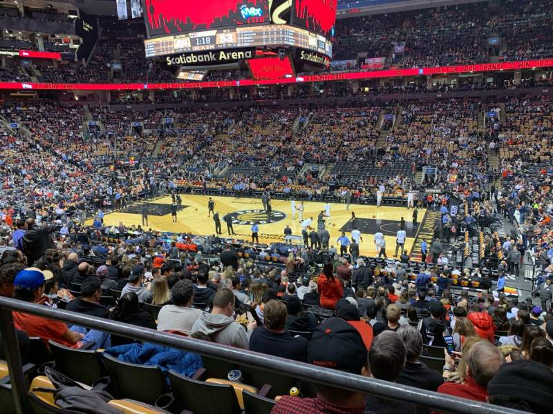 Seating view for Scotiabank Arena Section 118 Row 24? Seat 4?
