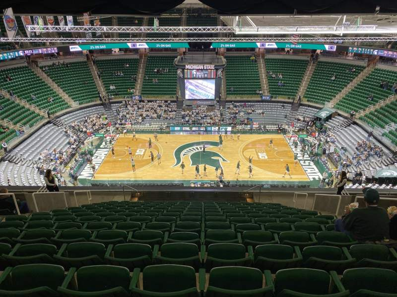 Seating view for Breslin Center Section 227 Row 16 Seat 6