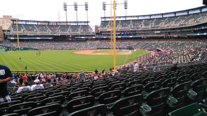 Seating view for Comerica Park Section 145 Row LL Seat 12
