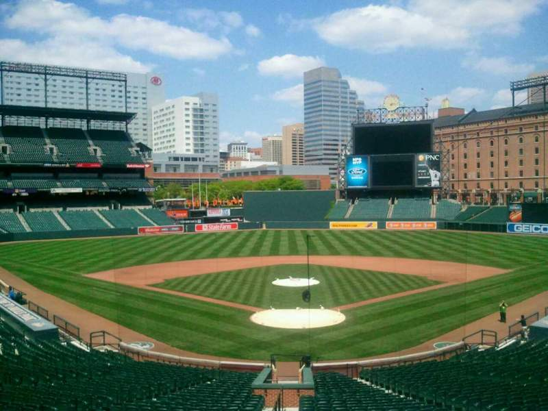 Seating view for Oriole Park at Camden Yards Section Press box