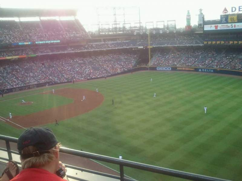 Seating view for Turner Field Section 425 Row 2 Seat 106
