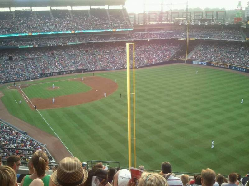 Seating view for Turner Field Section 429 Row 15 Seat 7